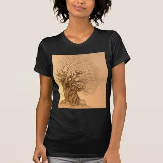 Ancient Tree Drawing T-Shirt