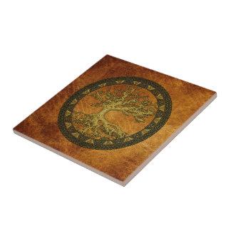 Ancient Tree of Life Ceramic Tile
