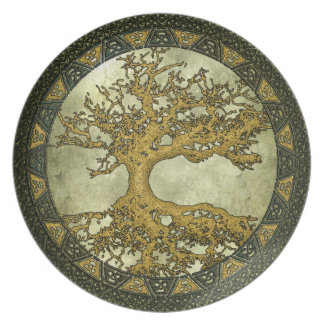 Ancient Tree of Life Dinner Plate