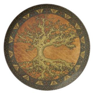 Ancient Tree of Life Melamine Plate