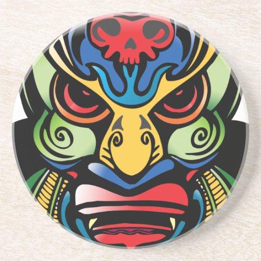 Ancient Tribal Mask Coaster
