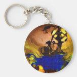 ancient tribe basic round button keychain