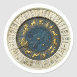 Ancient Venice clock Classic Round Sticker