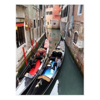 Ancient Venice Modern Gondolier - Gondola Postcard