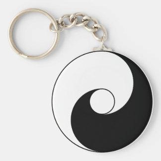 Ancient version of Taijitu by Lai Zhi-De Yin Yang Keychain
