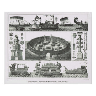 Ancient vessels and naval trappings poster