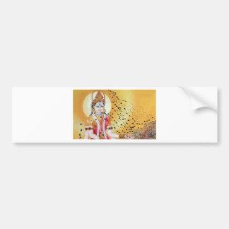 Ancient Vintage Artwork Goddess of the Honey Bees Bumper Sticker