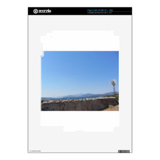 Ancient wall and windmill with seascape iPad 2 decals