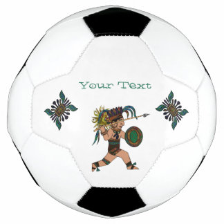 Ancient Warrior Native American Soccer Ball