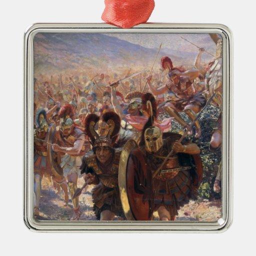 Ancient Warriors Metal Ornament