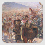 Ancient Warriors Square Sticker