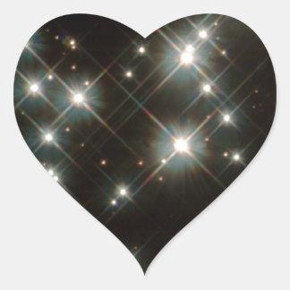 Ancient White Dwarf Stars In The Milky Way Galaxy Heart Sticker