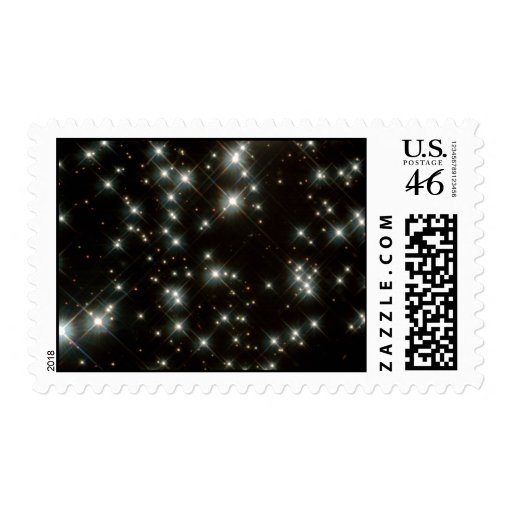 Ancient White Dwarf Stars In The Milky Way Galaxy Postage Stamp