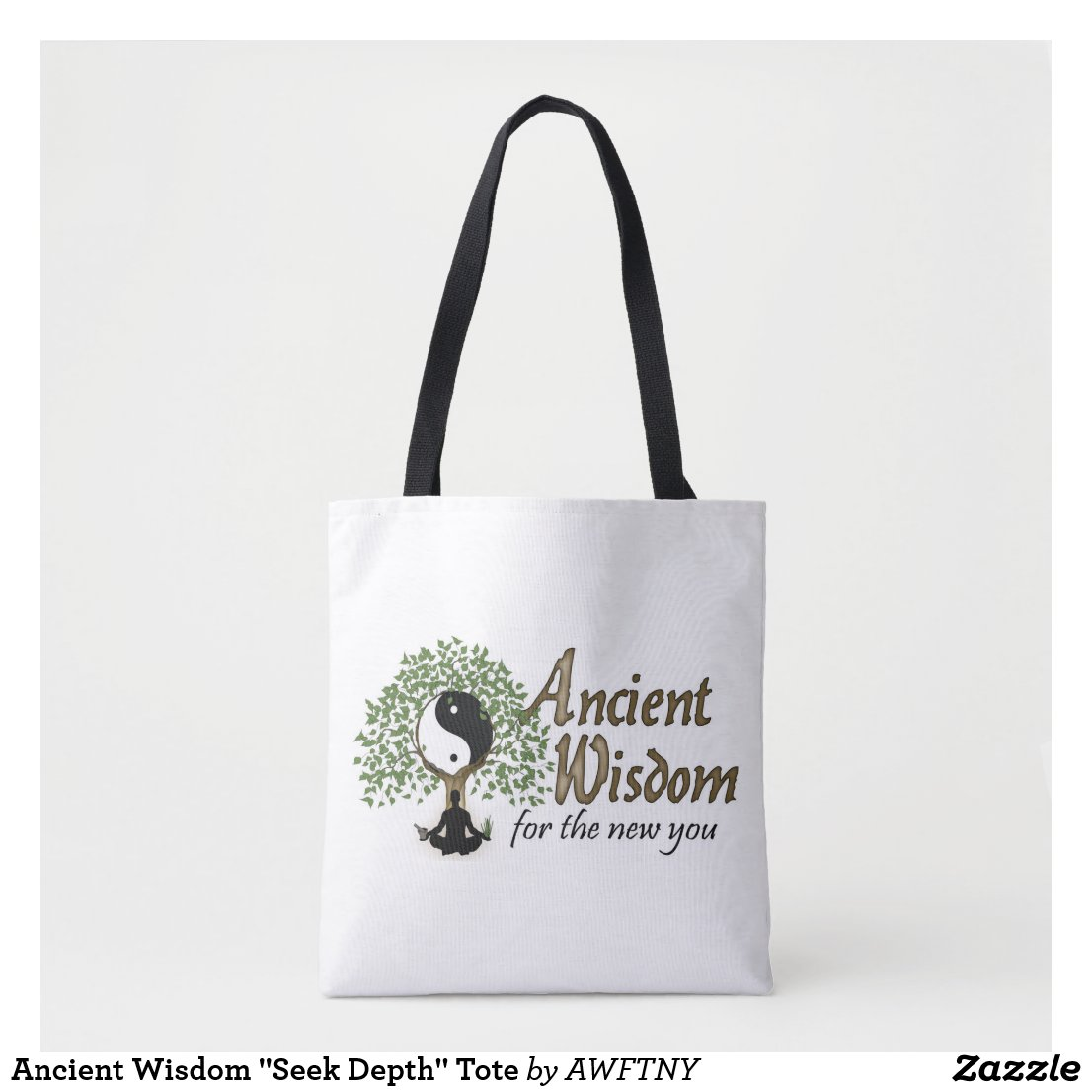 "Ancient Wisdom ""Seek Depth"" Tote"