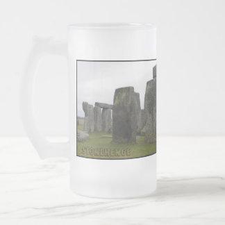 Ancient Wonder 16 Oz Frosted Glass Beer Mug