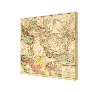 Ancient world empires of the Persians,Macedonians Canvas Prints
