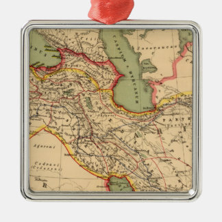 Ancient world empires of the Persians,Macedonians Square Metal Christmas Ornament