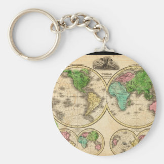 Ancient World Map 4 Keychain