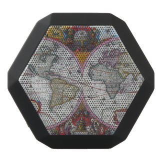 Ancient World Map Black Bluetooth Speaker