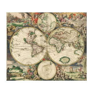 Ancient world map canvas print