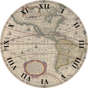 Old world map wall clocks zazzle ancient world map clock gumiabroncs Gallery