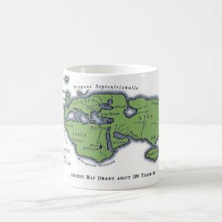 Ancient World Map, Drawn 200 Years BC Classic White Coffee Mug