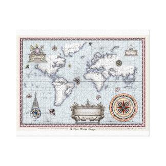 ancient world map No.1, tony fernandes Canvas Print