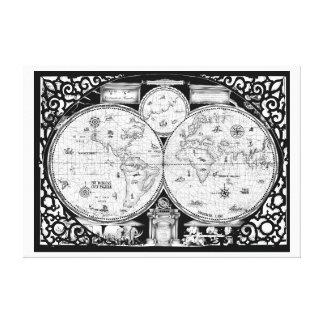 ancient world map No.2, tony fernandes Canvas Print