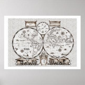 ancient world map No.3, tony fernandes Poster