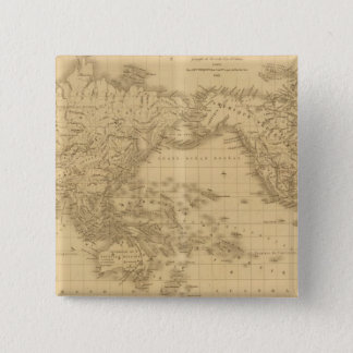 Ancient World Map Pinback Button