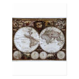 Ancient World Map Postcard