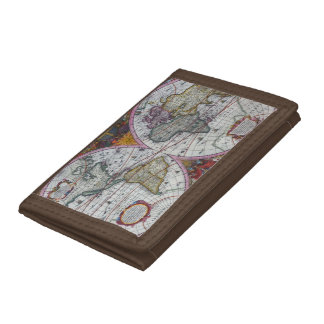 Ancient World Map Tri-fold Wallet