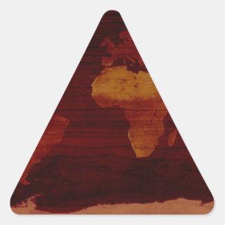 Ancient world map triangle sticker