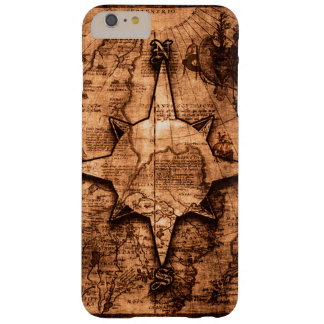 Ancient World Traveler - Map & Compass Rose Barely There iPhone 6 Plus Case