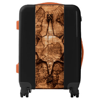 Ancient World Traveler - Map & Compass Rose Luggage
