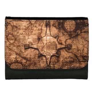 Ancient World Traveler - Map & Compass Rose Wallets