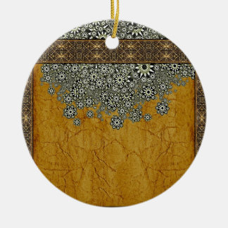 Ancient Worlds Decorative Graphic Double-Sided Ceramic Round Christmas Ornament