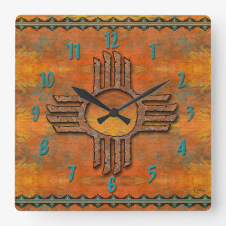 Ancient Zia Wallclocks