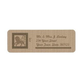 Ancient Zodiac -Leo Custom Return Address Label