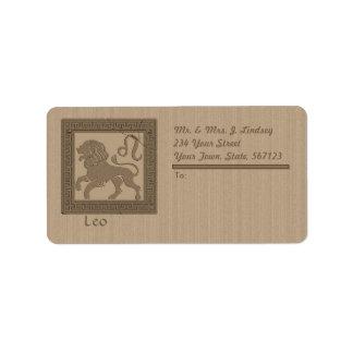 Ancient Zodiac -  Leo Label