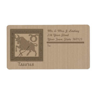 Ancient Zodiac - Taurus Label