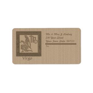 Ancient Zodiac - Virgo Label