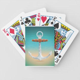 Ancla abstracta cristalizada baraja de cartas
