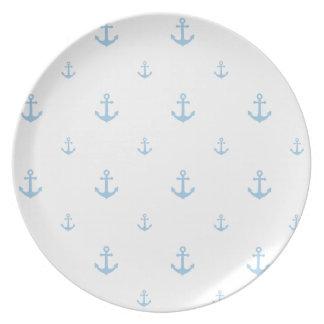 Ancla azul clara platos