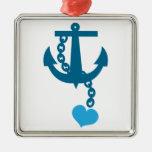 Ancla azul del océano de la nave