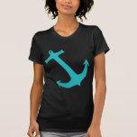 Ancla azul del trullo náutica camisetas
