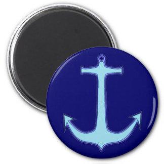 Ancla azul imán redondo 5 cm