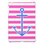 Ancla azul náutica rosada iPad mini protector