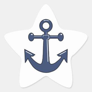 Ancla azul colcomanias forma de estrella