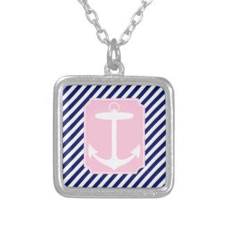 Ancla azul y rosada pendientes personalizados